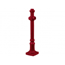 Lamp Post - Dark Red